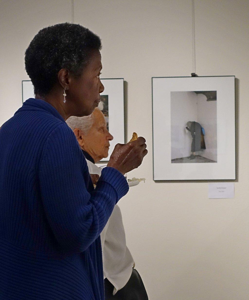 Art appreciators appreciating art